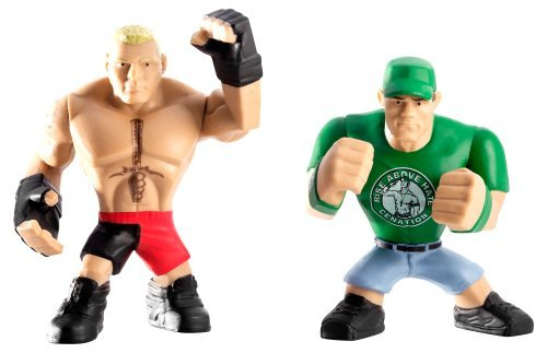 WWE Rumblers Brock Lesnar and John Cena Action Figure 2-Pack toys [parallel import goods]