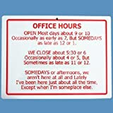 Retirement Office Hours Sign - Funny Retirement Gift