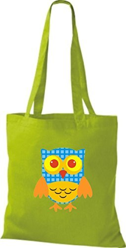 Shirtinstyle - Cotton Fabric Bag For Women - Lime Yellow