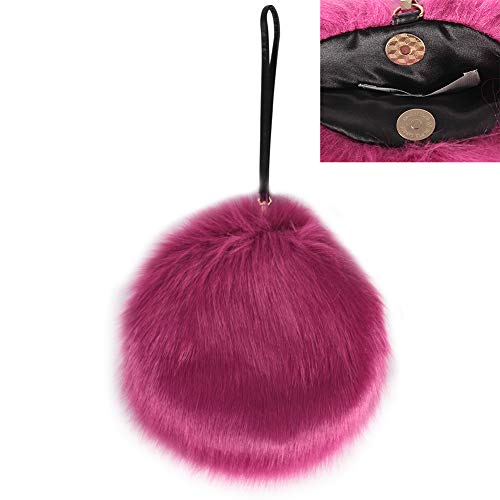 Faux Fur Purses and Handbags, LILYFUR Faux Fur Clutch Fluffy Feather Round Evening Wedding Bag Shoulder Bag Clutch Purses Mother's Day Gift for Women, - Womens Handbag Fur