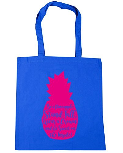 and Tall Pineapple A Cornflower Crown litres Gym Inside Sweet 10 The Bag On Be Stand Be HippoWarehouse Tote 42cm Blue Shopping Wear x38cm a Beach WFxg80nc