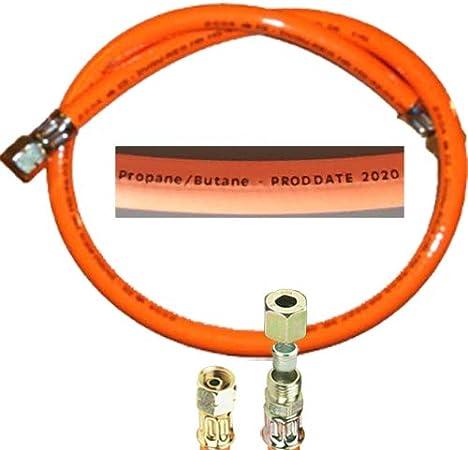 Manguera de Gas propano TGO Gasger/äte GmbH 2019 Rosca Izquierda de 1//4 Pulgadas x 8 mm