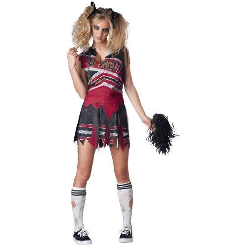 (InCharacter Costumes Women's Spiritless Cheerleader Costume, Red/Grey,)