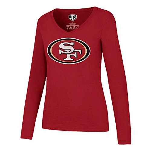 NFL San Francisco 49Ers Women's Ots Rival Long sleeve Distressed Tee, Large, -