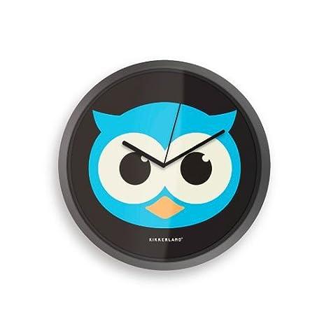 Amazoncom Kikkerland Glow In The Dark Owl 8Inch Wall Clock