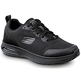Skechers Jenny Women's Black Soft Toe Slip Resistant Athletic