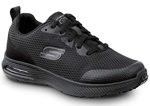 Skechers Jenny Women's Black Soft Toe Slip Resistant Athletic (8.0 M)