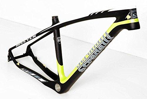 Stradalli 20 Seven Full Carbon Fiber Mountain Bike Bicycle Hardtail Frame. 27.5'' MTB 650b Black/Green