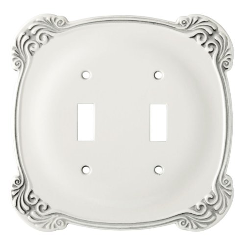 Franklin Brass 144386 Arboresque Double Toggle Switch Wall Plate / Switch Plate / Cover (Double Switch Brass Toggle)