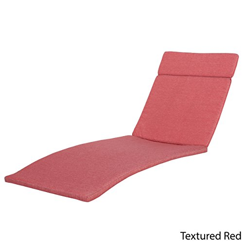 Great Deal Furniture Lakeport Patio ~Outdoor Chaise Lounge Chair Cushions (Only)(Set of 2)(Red)