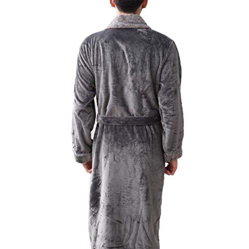 in uomo Active da 96088 Fashion flanella accogliente Saoye grigio Cappotto Pigiama sauna uomo grigio Schiesser Accappatoio con per vestiti q4OHtI