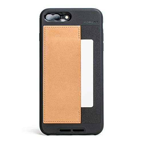 iPhone 7 Plus / 8 Plus Wallet Case || Moment Photo Case in Natural Leather - Thin, Protective, Wrist Strap Friendly Wallet case for Camera Lovers.