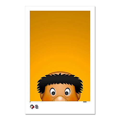 Swinging Friar - San Diego Padres - Minimalist Mascot Art Poster Print (11X17 Inches)