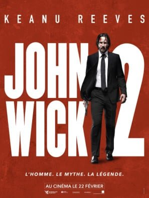 John Wick 2 Chapter Two Keanu Reeves French Movie Wall Poster