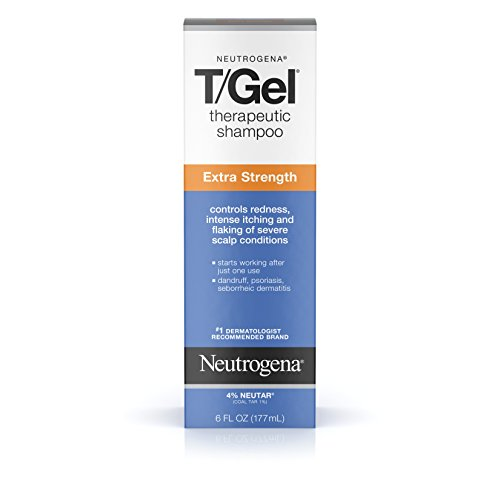 Neutrogena T/Gel Extra Strength Therapeutic Shampoo with 1% Coal Tar, Anti-Dandruff Treatment for Long-Lasting Relief of Itchy, Flaky Scalp due to Psoriasis & Seborrheic Dermatitis, 6 fl. -