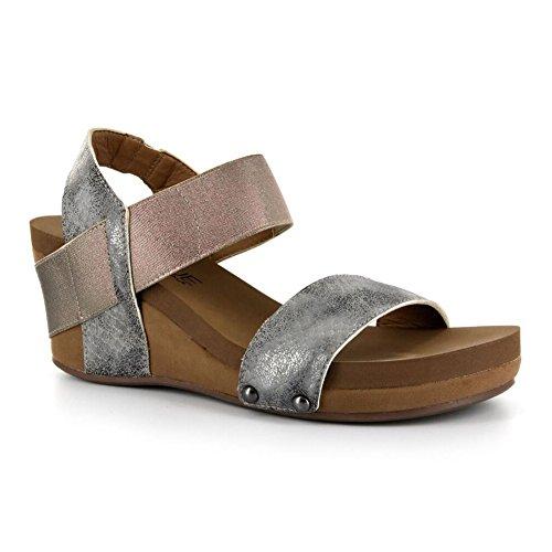 Sandalo In Pelle Di Vitello Con Cinturino In Sughero