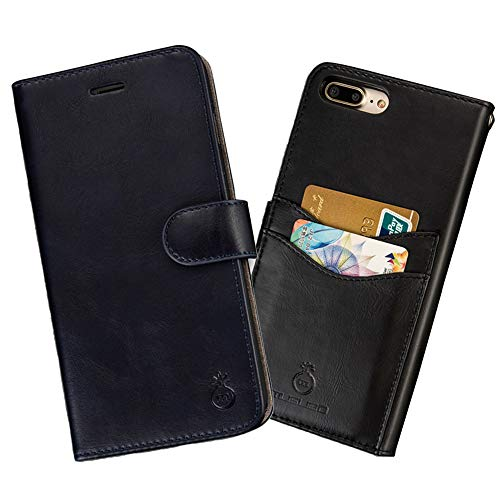 Mens Wallet Case for iPhone X, iPhone X Wallet Phone Case Leather Phone Case for iPhone X,Folio Flip Cell Cover Detachable Slim Case iPhone Magnetic Wallet with Card Slots Cash Pocket iPhone Box Case