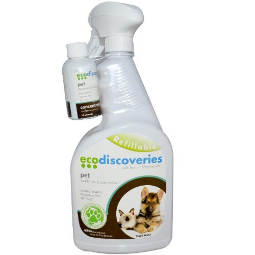 EcoDiscoveries , Pet Deodorizer & Stain Remover, 2 fl oz (60 ml) Concentrate w/ 1 Spray Bottle