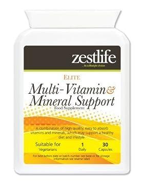 Soporte Multi - Vitaminas y Minerales Daily Vitality Zestlife 30 cápsulas | con Ginseng Siberiano, Ginkgo Biloba y jalea real: Amazon.es: Salud y cuidado ...