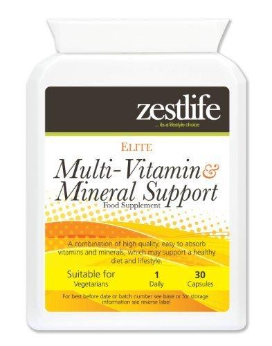 Soporte Multi - Vitaminas y Minerales Daily Vitality Zestlife 30 cápsulas   con Ginseng Siberiano,