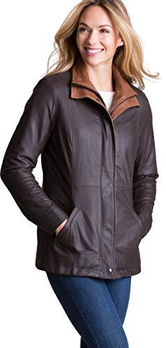 - Overland Sheepskin Co Rory Lite English Lambskin Leather Jacket