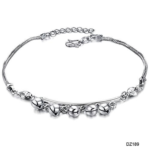 (usongs Teng Yi fashion jewelry wholesale rhodium-plated silver bell Foot Chain anklet ankle chain 189 girls)