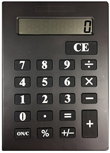 One Huge Jumbo Calculator With Oversize Display- BLACK