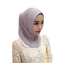 Meijunter Muslim Women Solid Color Short Scarf Islamic Head Cover Arabian Hijab