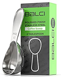 SOLID STAINLESS STEEL: 18/8 (304) endurance stainless steel will last a lifetime and more. These will be the last coffee scoops you will ever need to buy. Being made from stainless steel ensures it will never rust, corrode, crack or break. En...