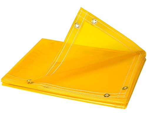 (Steiner 334-6X8 Arcview 14 Mil Flame Retardant Tinted Transparent Vinyl Curtain Roll, Yellow, 6' x 8')