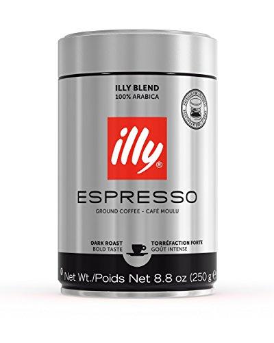 Illy Ground Espresso Coffee Dark Roast (6 Pack),8.8 - Illy Whole Bean