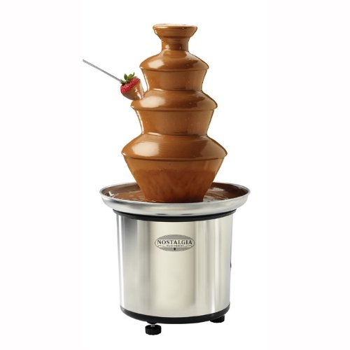Nostalgia Electrics CFF986 3-Tier Stainless Steel Chocolate Fondue Fountain, 2 Fountains