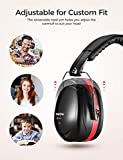 Mpow 035 Noise Reduction Safety Ear Muffs, Shooters Hearing Protection Ear Muffs, Adjustable Shooting Ear Muffs, NRR 28dB Ear Defenders for Shooting Hunting Season, with a Carrying Bag- Red