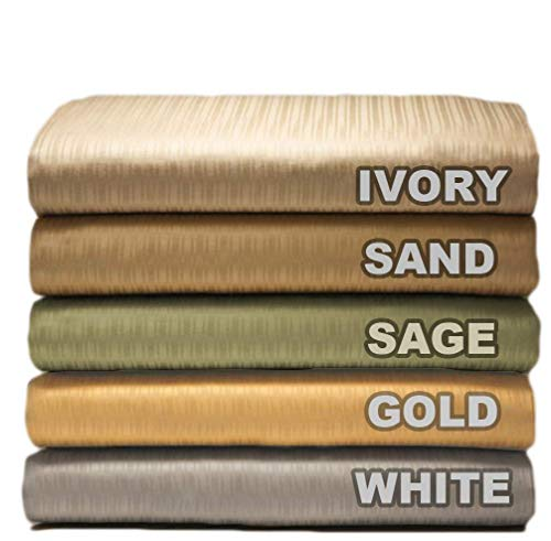 Organic Cotton Luxury Sheet Set. 310 Thread Count Soft Sateen Euro Stripes Pattern in 5 colors. Special Pricing
