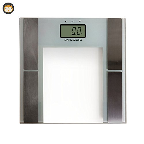 High Precision Digital Bathroom Body Weight Scale in White, Electronic Precise Fat & Water Monitoring & Weighing Scale with Sturdy Metal Platform, Fast Accurate Durable Weighing Scales with Sleek Temp