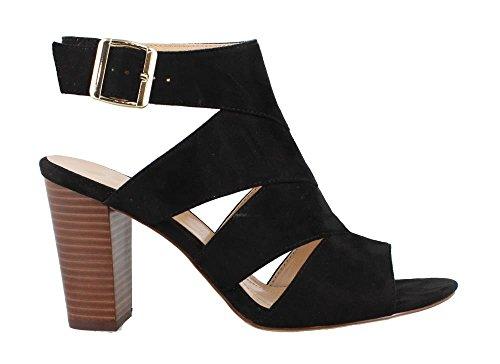 Womens Sandals Heels Studio Black (STUDIO ISOLA Women's, Dianne High Heel Sandals Black 8 M)