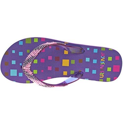 Urban Beach de bloques de traje de neopreno para mujer FW573 Flip Flops UK 3 - UK 8 púrpura - morado
