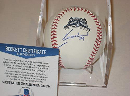 Kerry Wood Autographed Baseball - Official WRIGLEY 100th ANNIV w Beckett COA - Beckett ()
