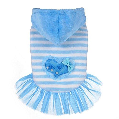 Cani Di Vestiti Dog Vestito Caldo Piccola shirt Cappuccio Taglia T Blue Con Pullover Per Bismarckbeer Doggie Sweatershirt J3u5F1cTlK
