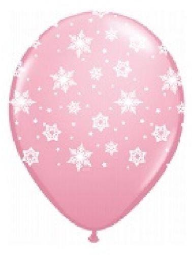 LOONBALLOON Snowflake Frozen Light Pink Snow Flake (6) 11