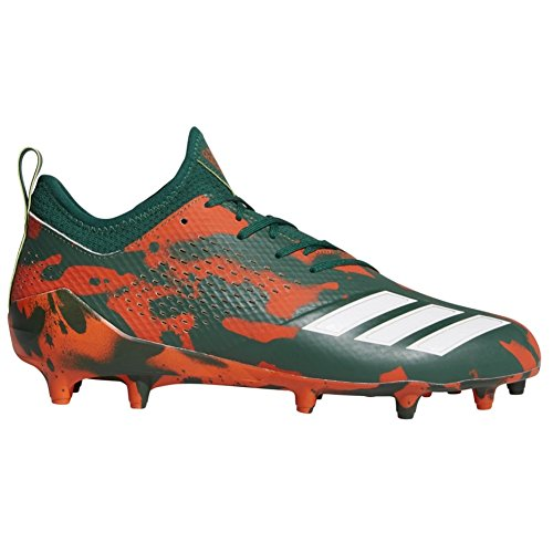 (adidas Adizero 5-Star 7.0 Tagged Cleat - Mens Football 10.5 Green/White/Collegiate Orange)