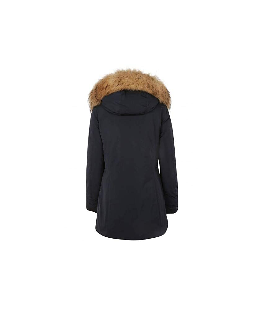 WOOLRICH Giaccone con Cappuccio Ws Luxury Arctic Parka Blu Poliestere Donna