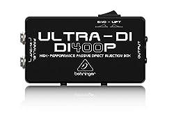 Behringer Ultra-DI DI400P Professional High-Performance Passive DI-Box