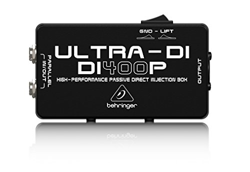 - Behringer Ultra-DI DI400P Professional High-Performance Passive DI-Box