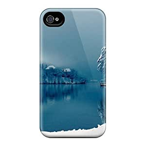 Hard Plastic Iphone 4/4s Case Back Cover,hot Winter At The Lake Case At Perfect Diy