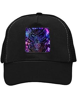 Unisex Owl Stars Adjustable Classic Hiphop Hat Baseball Cap Snapback Dad Hat