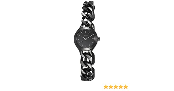 233373629cd Amazon.com  DKNY Chambers Black Stainless Steel Women s watch  NY2215   Watches
