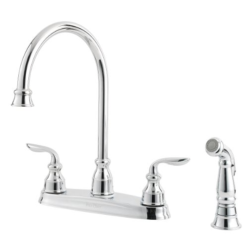 Pfister Avalon 2-Handle Kitchen Faucet with Side Spray, Polished Chrome (Avalon Kitchen Faucet)