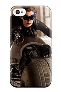 Top Quality Case Cover For Iphone 4/4s Case With Nice Anne Hathaway As Catwoman Appearance