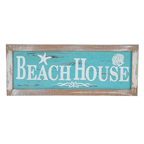 Beachcombers Framed Beach House Painted Wood Wall